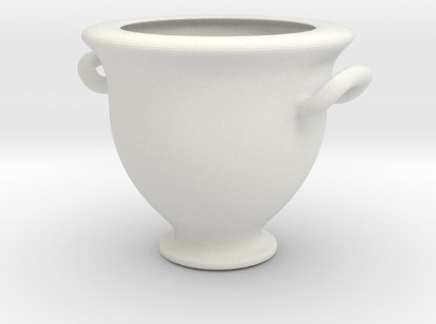 Greek Vase - Krater - Bell in White Natural Versatile Plastic