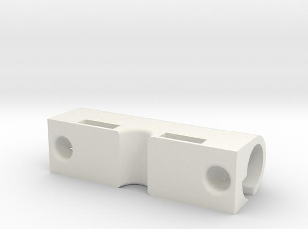 42 Center Bar in White Natural Versatile Plastic