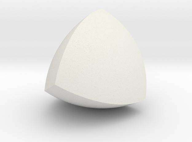 Meissner Tetrahedron in White Natural Versatile Plastic
