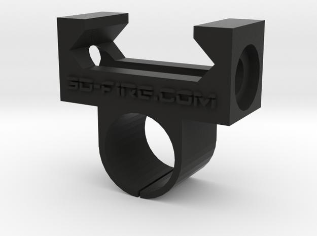 Compact streamlight nano Flashlight Mount 3d printed
