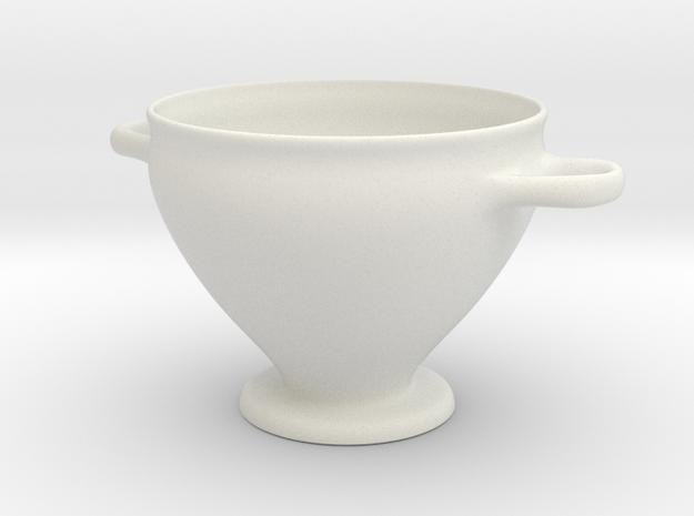 Greek Vase - Skyphos A in White Natural Versatile Plastic