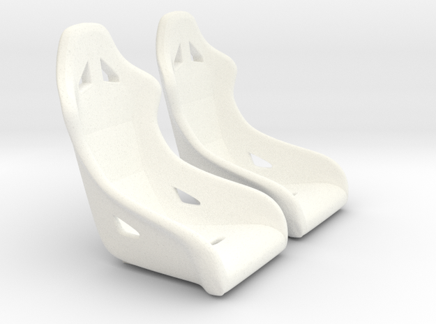 1/16 Scale Modern Racing Seat Pair 3d printed