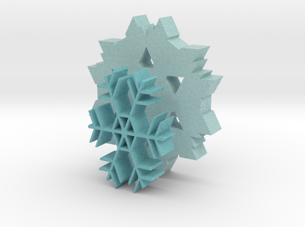 Snowflake Coasters 3d printed