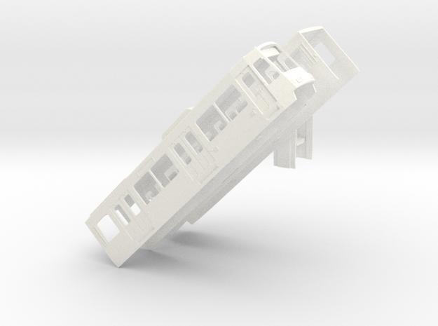 Gehäuse B-Wagen Rheinbahn 4000er in White Processed Versatile Plastic