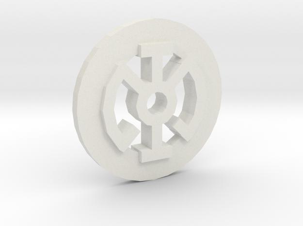 Lantern B in White Natural Versatile Plastic