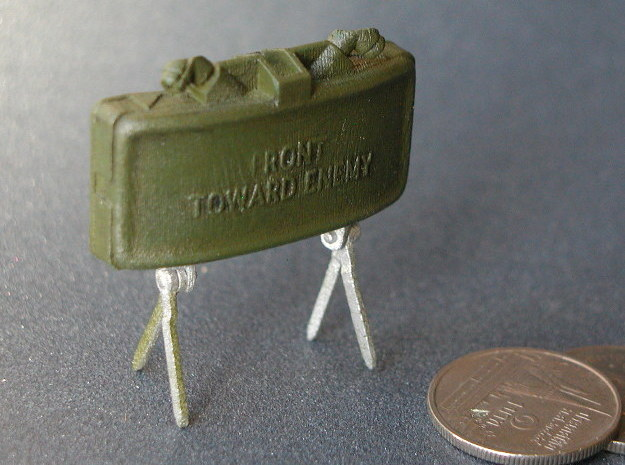Claymore Mine 1:6 in Smooth Fine Detail Plastic