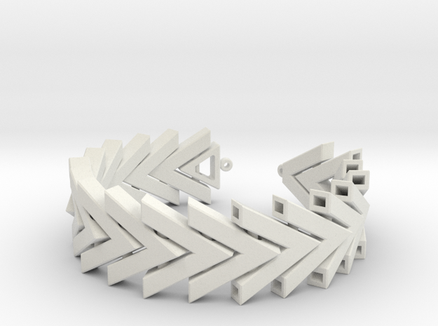 Chevron Bracelet in White Strong & Flexible
