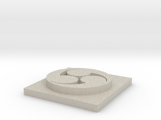 Hidari Symbol in Natural Sandstone