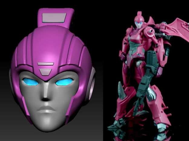 ARIEL homage Cyrene Head for RID Arcee in Frosted Ultra Detail