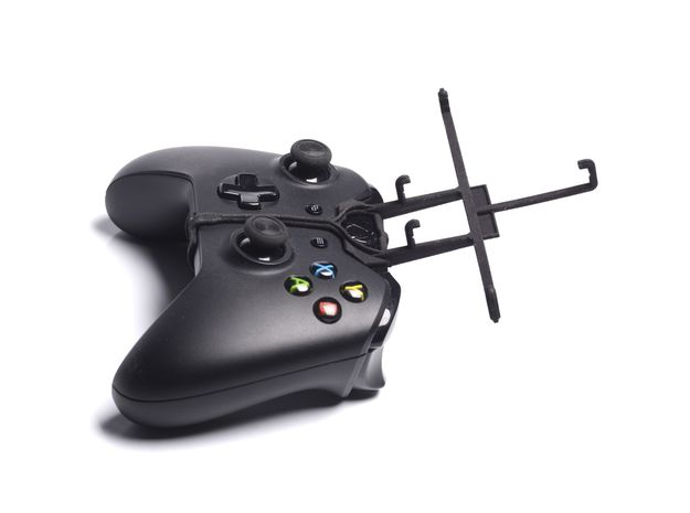 Xbox One controller & Lenovo A690 3d printed Without phone - A Samsung Galaxy S3 and a black Xbox One controller