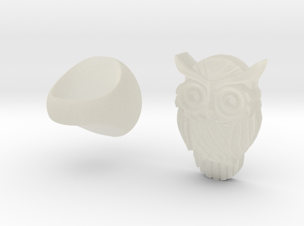 Owl Ring in Transparent Acrylic