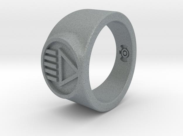 Black Death GL Ver 2 Ring (Sz's 5-15) in Polished Metallic Plastic