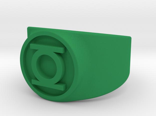 Original Hal GL Ring (Sz 5-15) in Green Processed Versatile Plastic