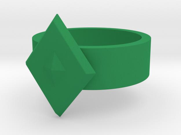 Guardian Ring 1976 GL (Sz 12 shown) in Green Strong & Flexible Polished