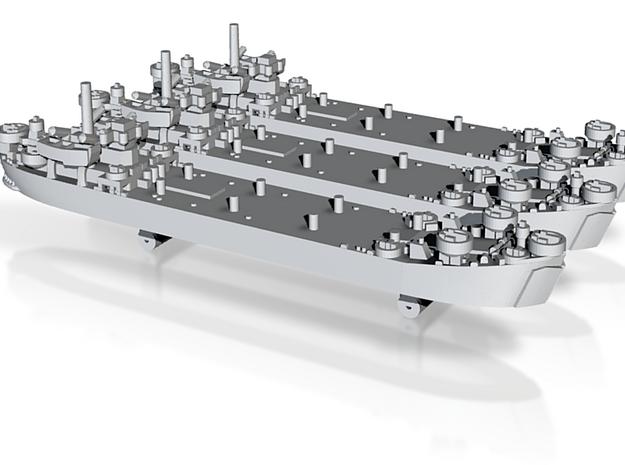 1/1800 US LST Mk2 (x3) 3d printed