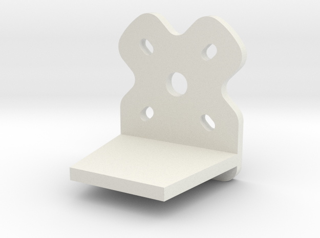 TinyWing Horizontal Motor Mount in White Strong & Flexible