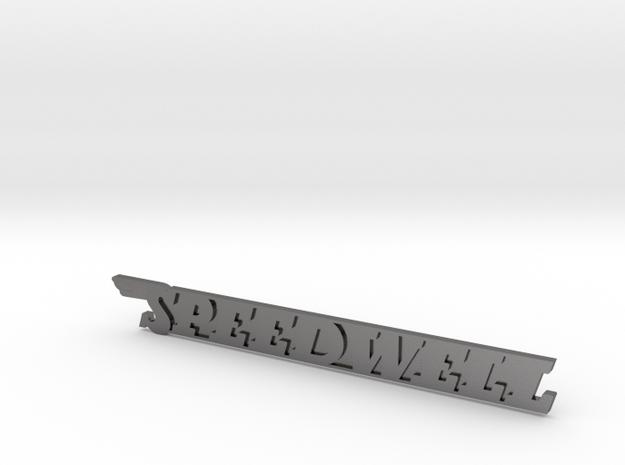 SPEEDWELL Badge in Polished Nickel Steel