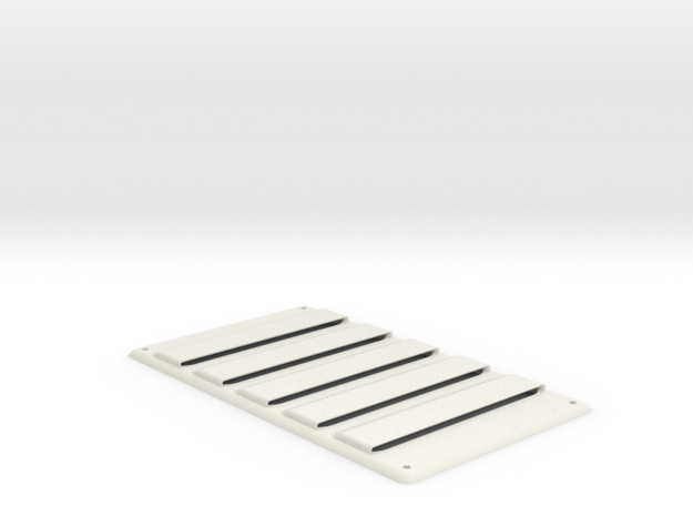Heat Louver in White Strong & Flexible