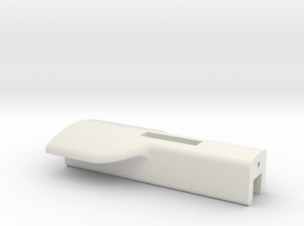 Trigger-3d Print Model in White Strong & Flexible