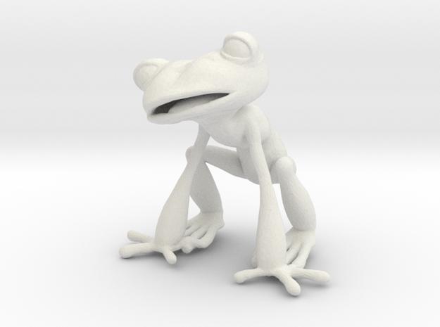Frog in White Natural Versatile Plastic