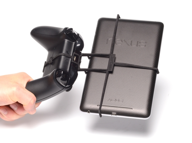 Xbox One controller & Alcatel One Touch Tab 8 HD 3d printed Holding in hand - Black Xbox One controller with a n7 and Black UtorCase