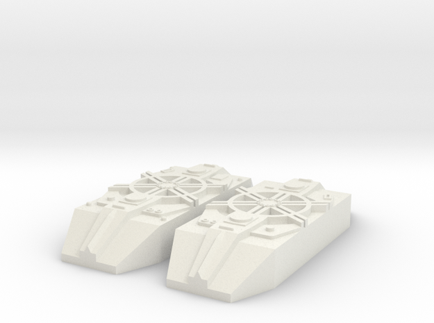 Fighter Model Pieces #37 in White Natural Versatile Plastic
