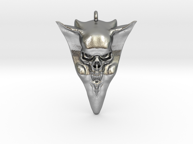 Skull pick 1 in Natural Silver