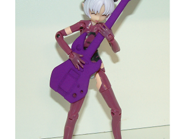 1/12 Toy Guitar in Purple Strong & Flexible Polished