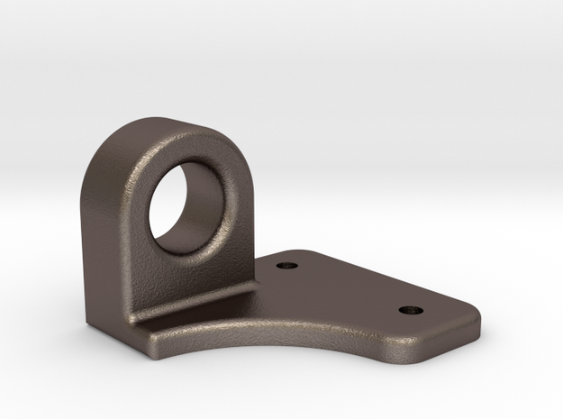 "Coupler Release Bracket A - 2.5"" scale in Polished Bronzed Silver Steel"