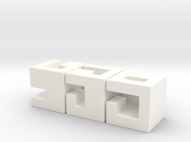 Oskar's Cubes Metallic in White Processed Versatile Plastic