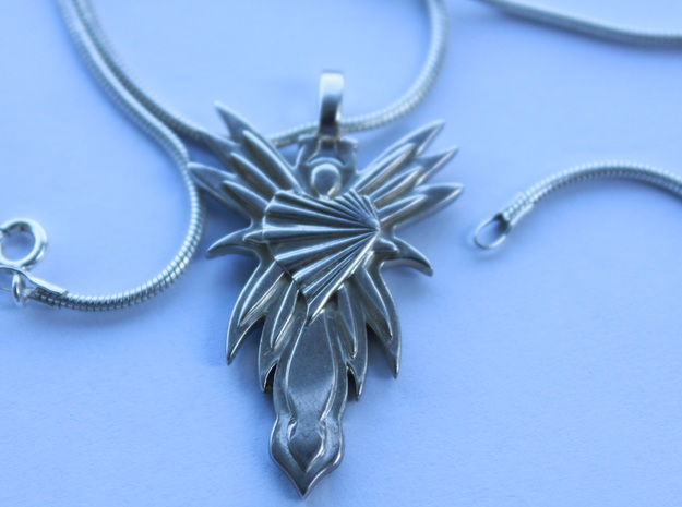 Angel  in Fine Detail Polished Silver