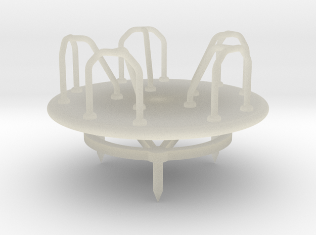Children's Merry-go-Round, HO Scale (1:87) 3d printed
