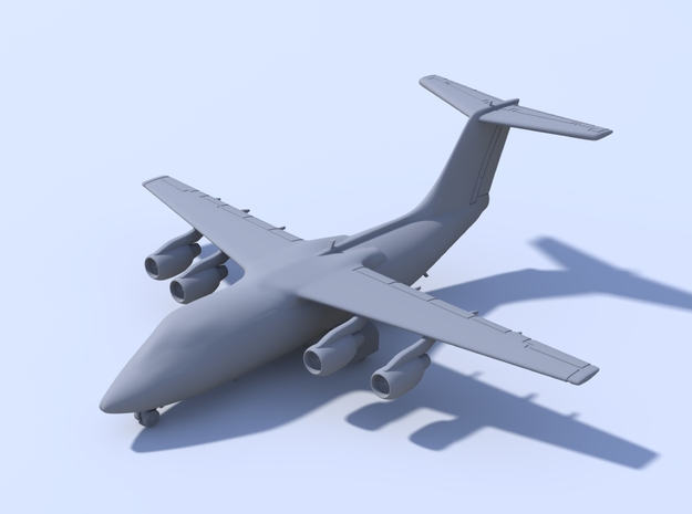 1:200 - BAE 146-100 (L) in Smooth Fine Detail Plastic