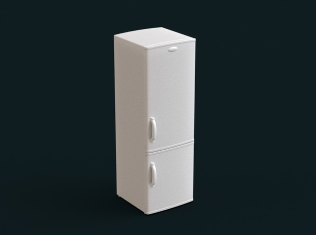 1:39 Scale Model - Refrigerator 02 in White Strong & Flexible