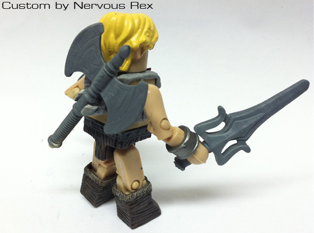 MOTU belt for minimate w/furry briefs 3d printed Custom Minimate by Nervous Rex