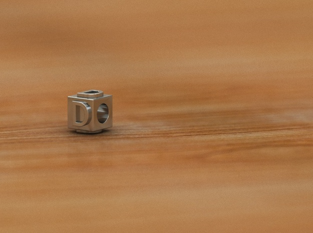 D in Polished Silver