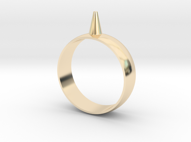 223-Designs Bullet Button Ring Size 14.5 in 14K Yellow Gold