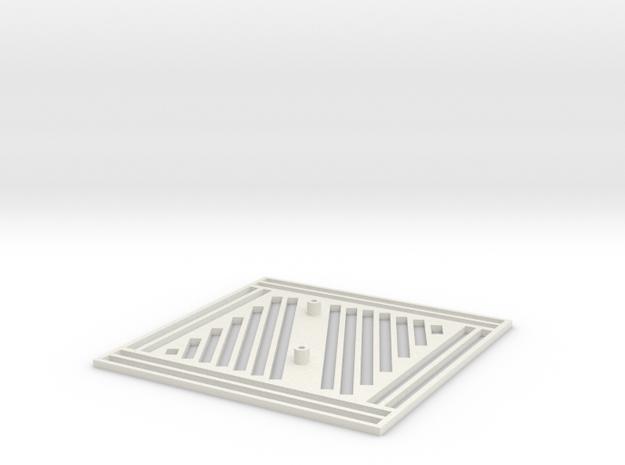 Pi Plate V2.0 in White Natural Versatile Plastic