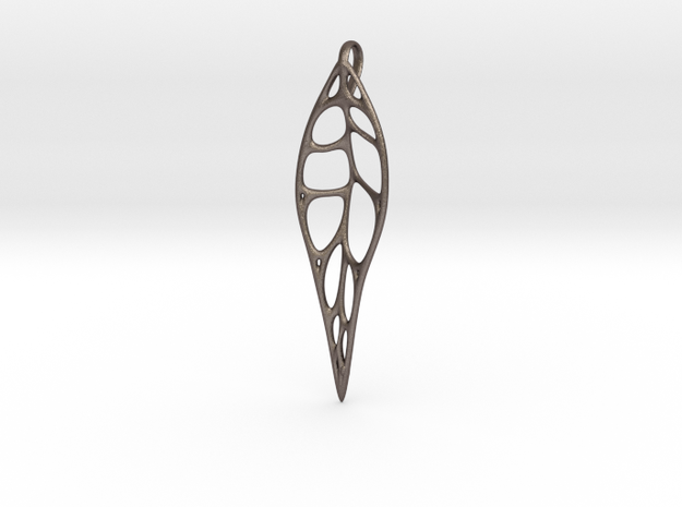 Gum Leaf Skeleton: 10cm in Polished Bronzed Silver Steel