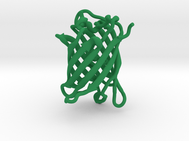 GFP green fluorescent protein molecule 3d printed