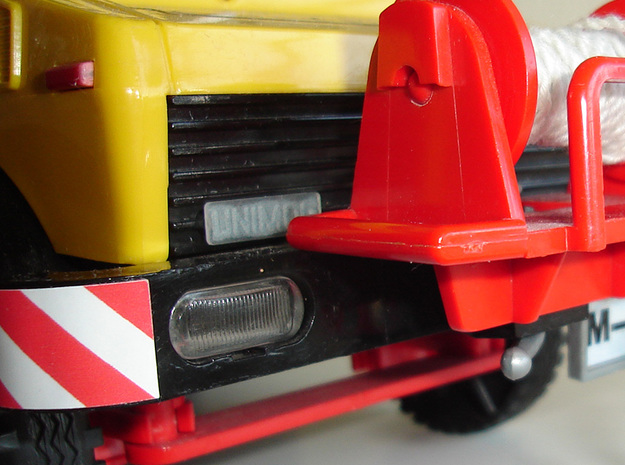 Unimog Plate - Playbig in Smooth Fine Detail Plastic