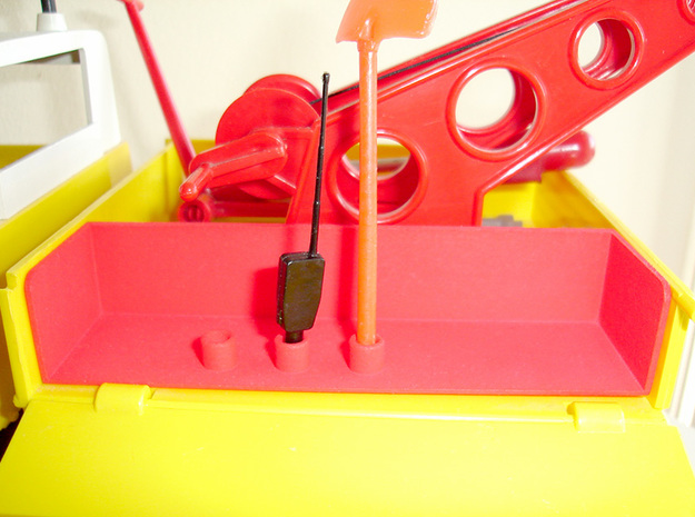 Large Tool Box Container - Playbig in Red Strong & Flexible Polished