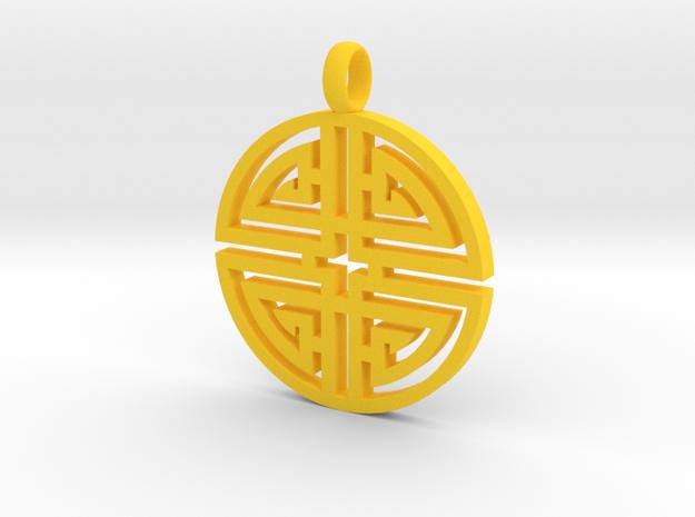 Longevity Pendant 3d printed