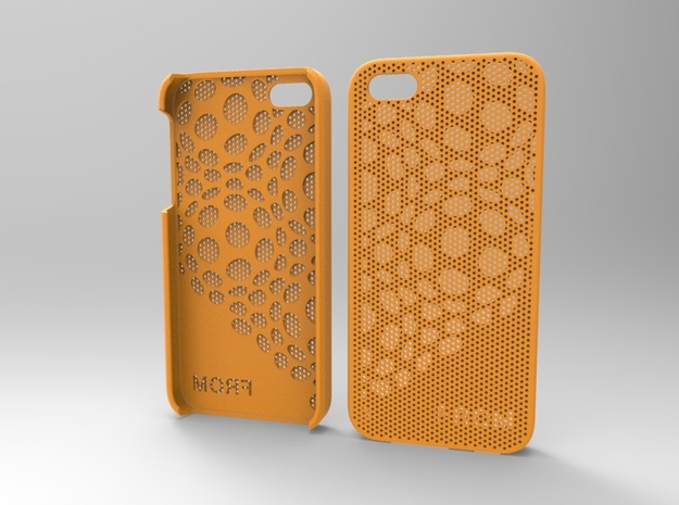 Iphone5 Case 2_2 in Orange Processed Versatile Plastic