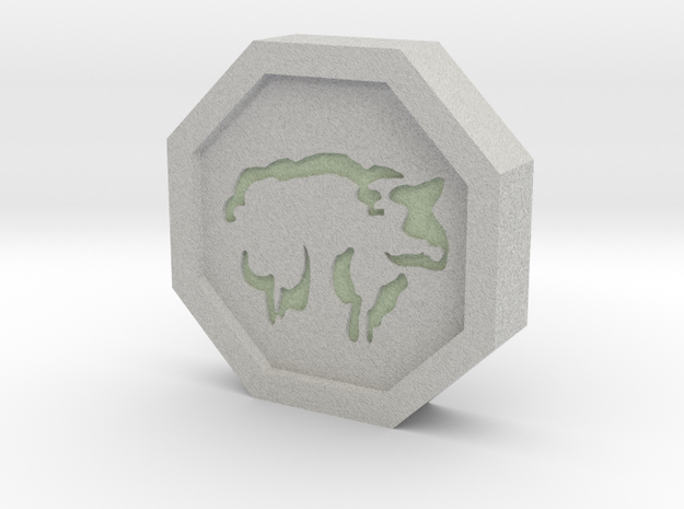 Sheep Talisman in Full Color Sandstone