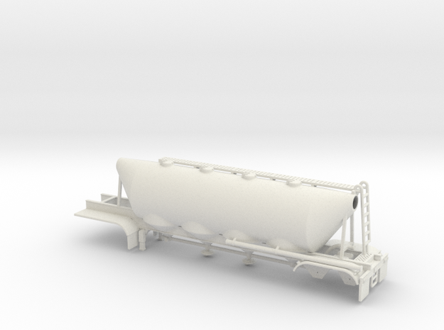 1/50 Dry Bulk Trailer 01a, Cement in White Natural Versatile Plastic