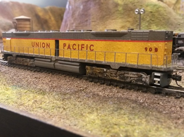 EMD DD35 N Scale 1:160 in Frosted Ultra Detail