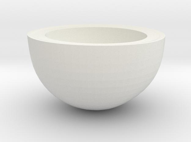 Coconut Half in White Natural Versatile Plastic