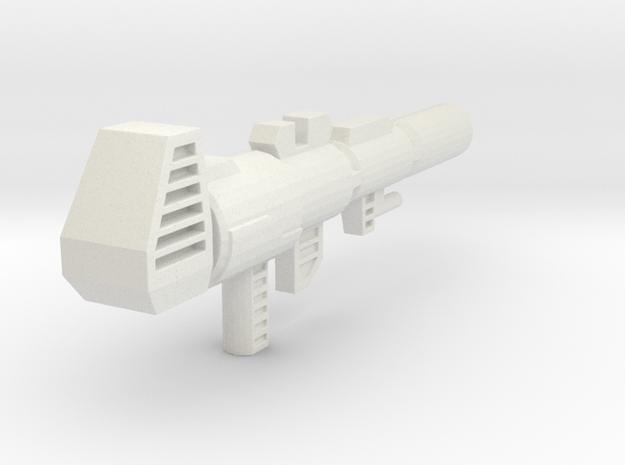 TF4: AOE Evasion Prime Ion Gun (G1 style) in White Natural Versatile Plastic