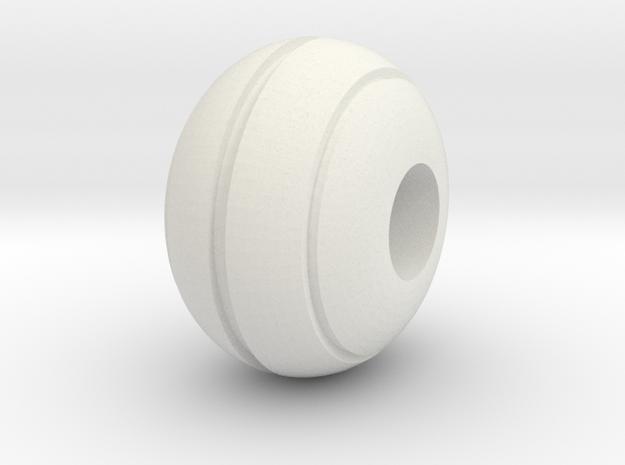 Stripe Bead in White Natural Versatile Plastic
